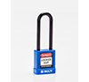 BRADY CADENAS BLEU REVETEMENT NYLON ANSE 75 MM EN PAQUET DE 6